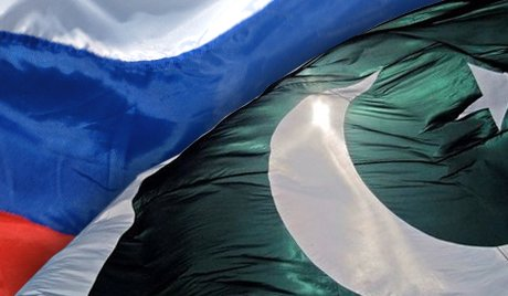 Russian Federation and pakistan flag